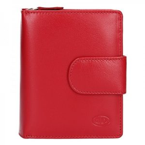 Dámská kožená peněženka DD Anekta Fiona – červená