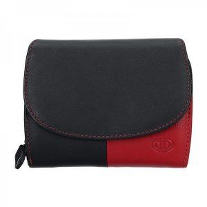 Dámská kožená peněženka DD Anekta Milena – černo-červené
