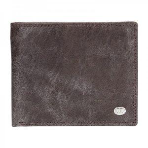 Pánská kožená peněženka DD Anekta Robin – hnědá