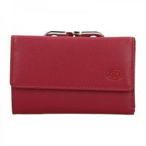 Dámská kožená peněženka DD Anekta Edita – červená