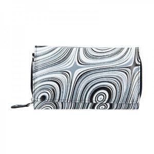 Dámská kožená peněženka DD Anekta Alice – černo-bílá