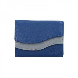 Dámská kožená peněženka DD Anekta Karolína – modro-šedá