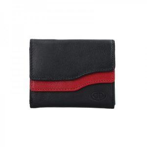 Dámská kožená peněženka DD Anekta Karolína – černo-červená