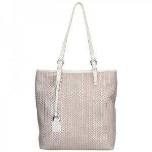 Dámská kožená kabelka Facebag Nora – zlato-béžová