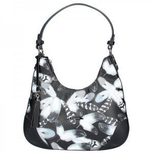 Dámská kabelka Hexagona 314611 – černo-bílá