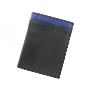 Pánská kožená peněženka Pierre Cardin Saturn – černo-modrá