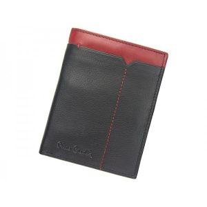 Pánská kožená peněženka Pierre Cardin Saturn – černo-červená