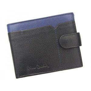 Pánská kožená peněženka Pierre Cardin Uran – černo-modrá