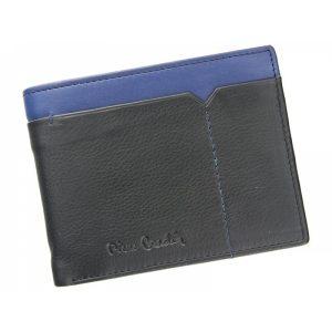 Pánská kožená peněženka Pierre Cardin Norel – černo-modrá