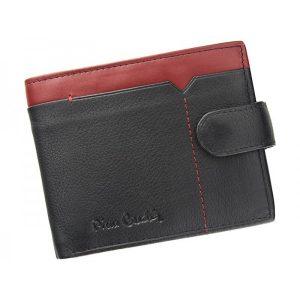 Pánská kožená peněženka Pierre Cardin Uran – černo-červená