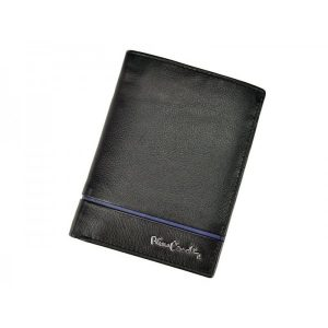 Pánská kožená peněženka Pierre Cardin Alain – černo-modrá