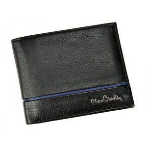 Pánská kožená peněženka Pierre Cardin Michel – černo-modrá