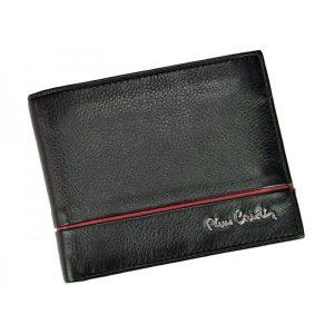 Pánská kožená peněženka Pierre Cardin Jean – černo-červená