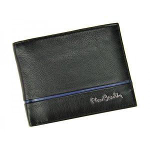 Pánská kožená peněženka Pierre Cardin Jean – černo-modrá