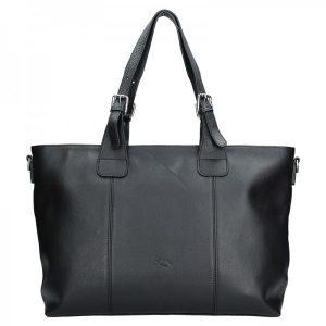 Elegantní dámská kožená kabelka Katana Silvia – černá