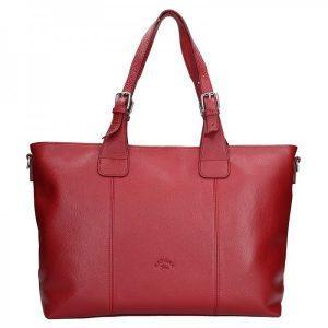 Elegantní dámská kožená kabelka Katana Silvia – červená