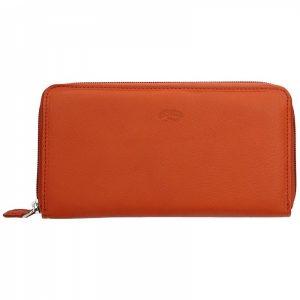 Dámská kožená peněženka Katana Olga – oranžová
