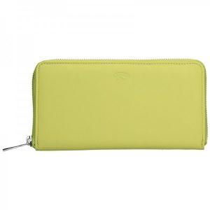 Dámská kožená peněženka Katana Olga – žlutá