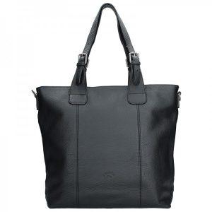 Elegantní dámská kožená kabelka Katana Mia – černá