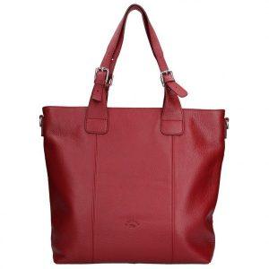 Elegantní dámská kožená kabelka Katana Mia – červená