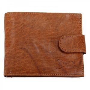 Pánská kožená peněženka SendiDesign SNW6947 – světle hnědá