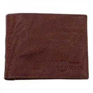 Pánská kožená peněženka SendiDesign SNW6946 – tmavě hnědá