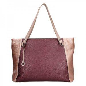 Dámská kožená kabelka Facebag Joana – vínová