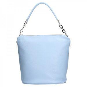 Dámská kožená kabelka Facebag Talma – modrá