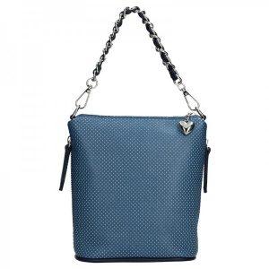 Dámská kožená kabelka Facebag Roberta – modrá
