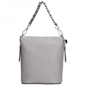 Dámská kožená kabelka Facebag Roberta – šedá