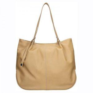 Dámská kožená kabelka Facebag Sandra – hnědá
