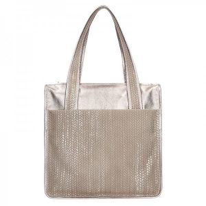 Dámská kožená kabelka Facebag Elma – zlato-béžová