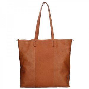 Dámská kožená kabelka Facebag Gwen – hnědá