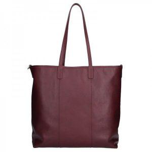 Dámská kožená kabelka Facebag Gwen – vínová