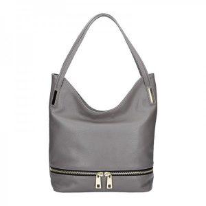 Dámská kožená kabelka Facebag Melba – šedá