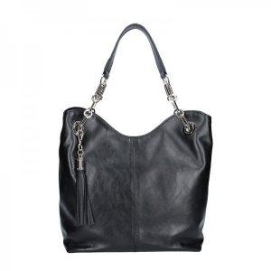 Dámská kožená kabelka Facebag Sofia – černá