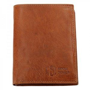 Pánská kožená peněženka SendiDesign SNW6945 – světle hnědá