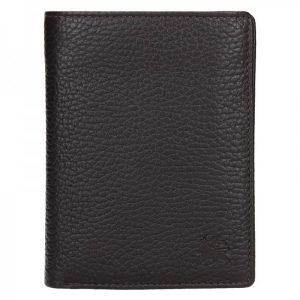 Kožená pánská peněženka Lerros Fredy – tmavě hnědá