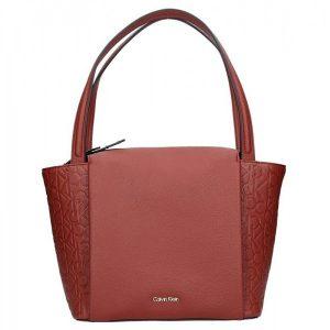Dámská kabelka Calvin Klein Ilon – hnědo červená