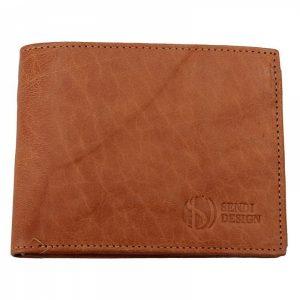 Pánská kožená peněženka SendiDesign SNW6856 – světle hnědá