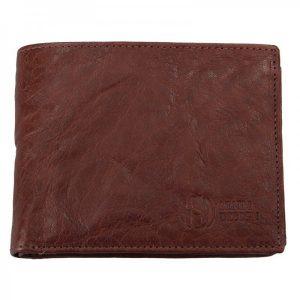 Pánská kožená peněženka SendiDesign SNW6856 – tmavě hnědá