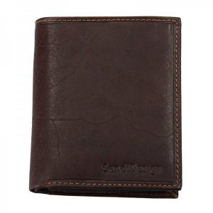 Pánská kožená peněženka SendiDesign 5758 (P) VT – hnědá