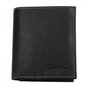 Pánská kožená peněženka SendiDesign 5758 (P) VT – černá