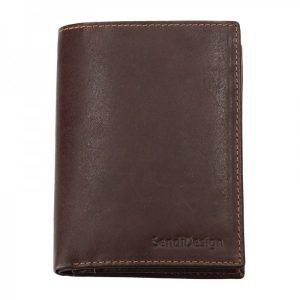 Pánská kožená peněženka SendiDesign 5741 (P) VT – hnědá