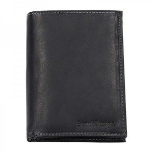 Pánská kožená peněženka SendiDesign 5602 (P) VT – černá