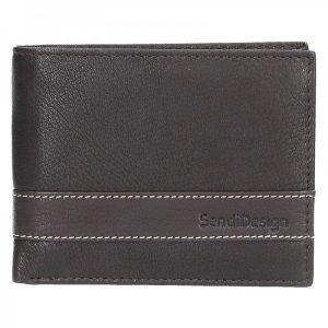 Pánská kožená peněženka SendiDesign 44 – hnědá