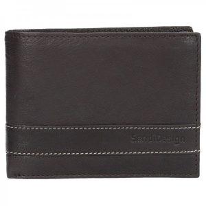 Panská kožená peněženka SendiDesign 48 – hnědá