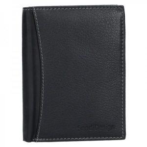 Panská kožená peněženka SendiDesign N4 – černá