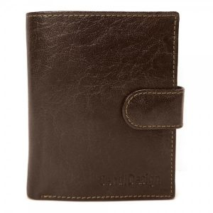 Pánská kožená peněženka SendiDesign 1047L – hnědá