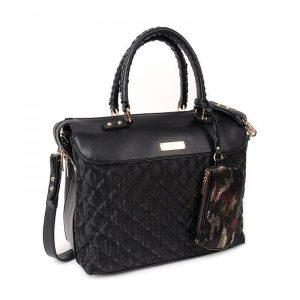 Dámská kabelka Doca 12890 – černá